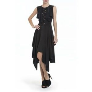 BCBG Maxazria Gienna Ruffled Lace-front Dress 8